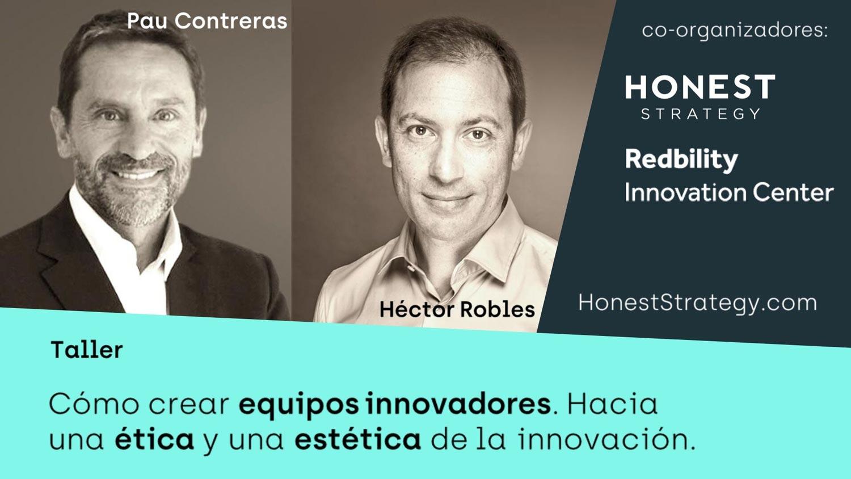 Taller crear equipos innovadores Pau Contreras y Héctor Robles