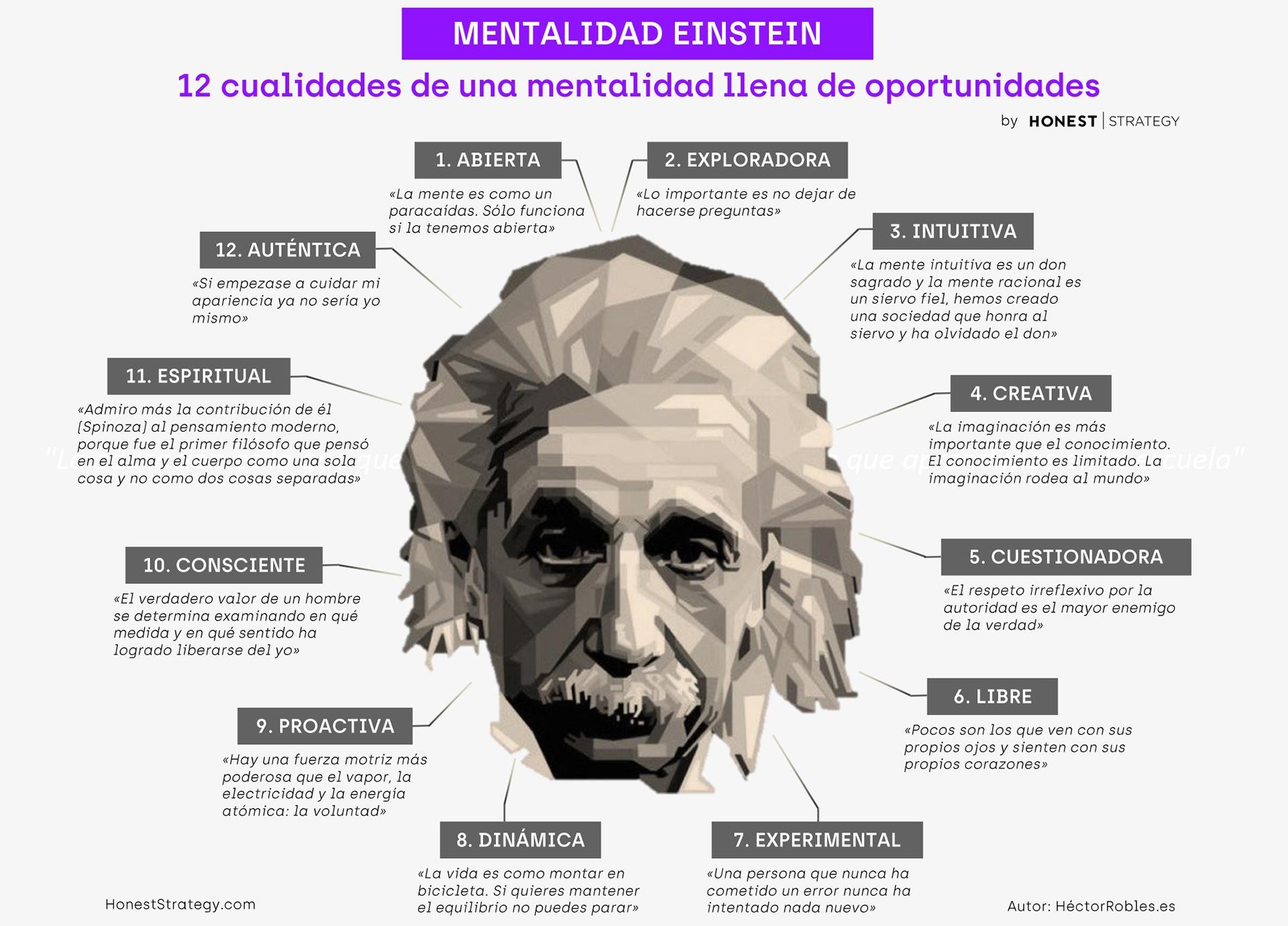 Infografía mentalidad Einstein